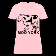 Women's T-Shirts ~ Women's T-Shirt ~ Moo York Shirt by New York Old School