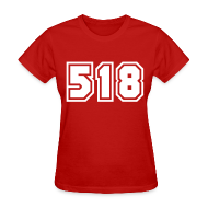 T-Shirts ~ Women's T-Shirt ~ Area Code 518 Shirt by New York Old School