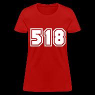 Women's T-Shirts ~ Women's T-Shirt ~ Area Code 518 Shirt by New York Old School