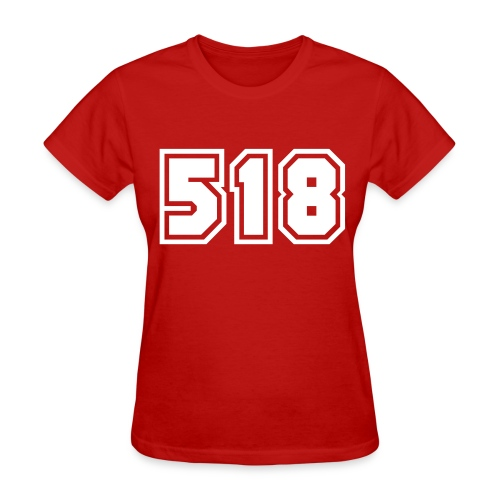 Area Code 518 Shirt by New York Old School  - Women's T-Shirt