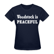 Women's T-Shirts ~ Women's T-Shirt ~ Woodstock is Peaceful Shirt by New York Old School