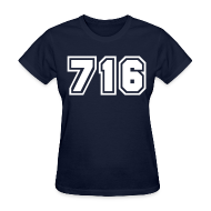 T-Shirts ~ Women's T-Shirt ~ Area Code 716 Shirt by New York Old School