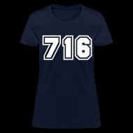 Women's T-Shirts ~ Women's T-Shirt ~ Area Code 716 Shirt by New York Old School