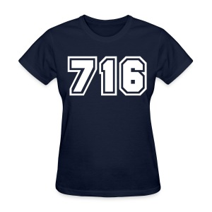 Area Code 716 Shirt by New York Old School  - Women's T-Shirt
