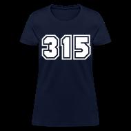 Women's T-Shirts ~ Women's T-Shirt ~ Area Code 315 Shirt by New York Old School