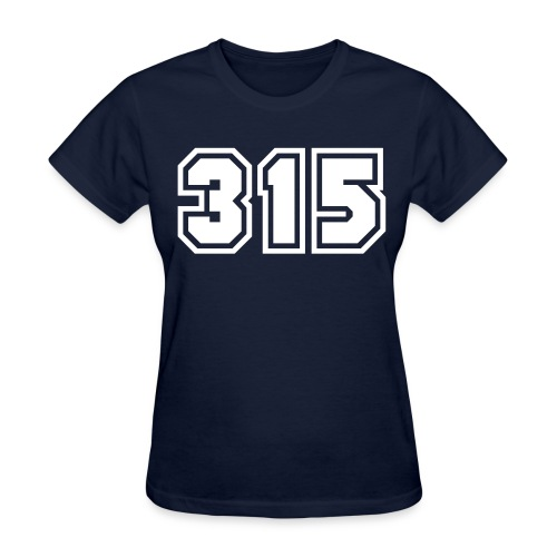 Area Code 315 Shirt by New York Old School  - Women's T-Shirt