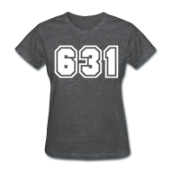 Women's T-Shirts ~ Women's T-Shirt ~ Area Code 631 Shirt by New York Old School