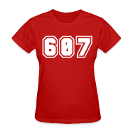 T-Shirts ~ Women's T-Shirt ~ Area Code 607 Shirt by New York Old School