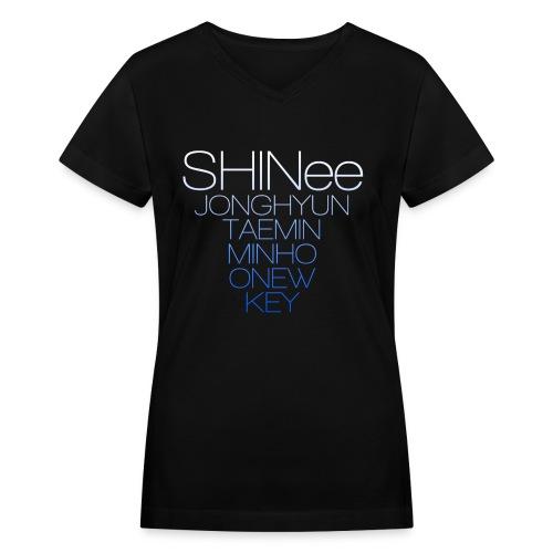 SHINee Gradient - Women's V-Neck T-Shirt