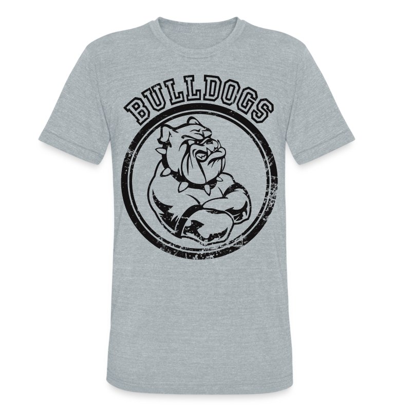 Custom bulldog sports team graphic t shirt spreadshirt for Tri blend custom t shirts