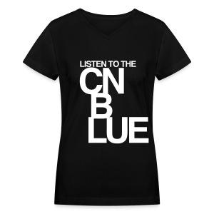 [CNB] Listen to the CN Blue - Women's V-Neck T-Shirt