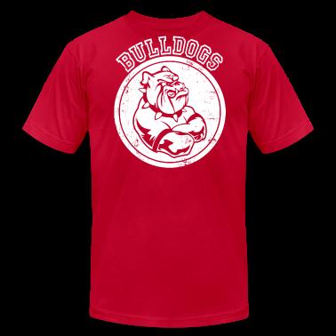 Custom bulldog sports team graphic t shirts t shirt for Custom team t shirts