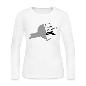I'm with Stupid - Women's Long Sleeve Jersey T-Shirt