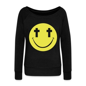 [2NE1] Minzy Smiley Face - Women's Wideneck Sweatshirt