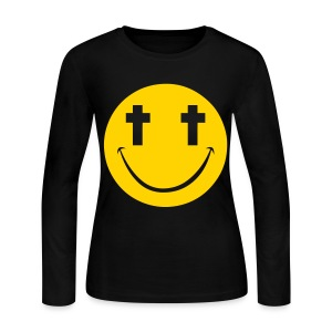 [2NE1] Minzy Smiley Face - Women's Long Sleeve Jersey T-Shirt