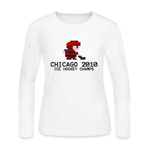 Chicago 2010 Ice Hockey Champs - Women's Long Sleeve Jersey T-Shirt