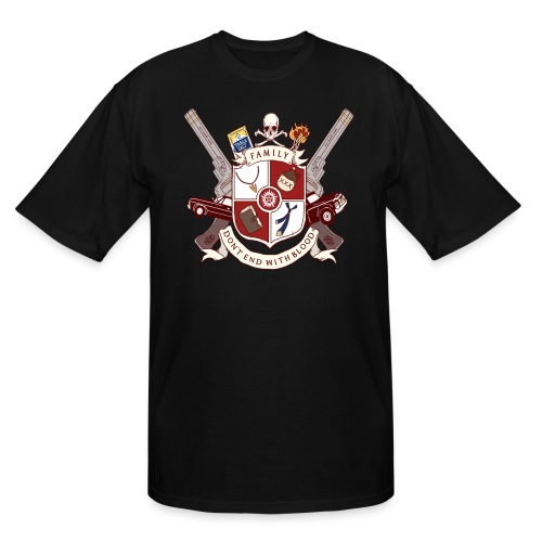 Family Don't End With Blood crest - Men's Tall T-Shirt