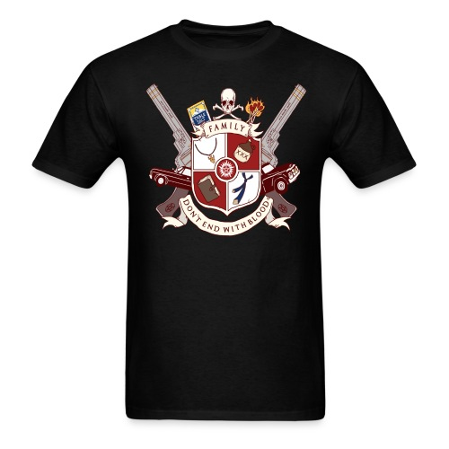 Family Don't End With Blood crest - Men's T-Shirt