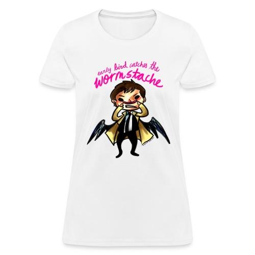 Early Bird Catches the Wormstache (DESIGN BY KARINA) - Women's T-Shirt