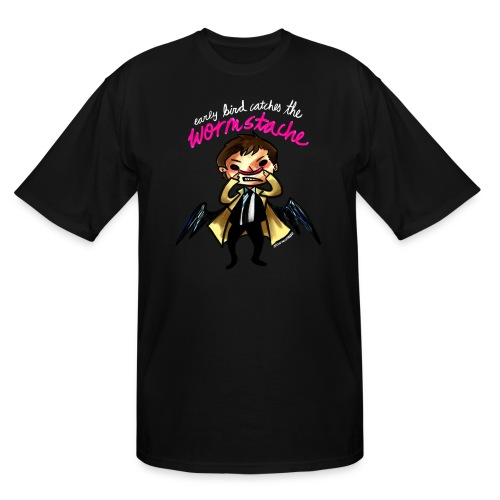 Early Bird Catches the Wormstache (DESIGN BY KARINA) - Men's Tall T-Shirt
