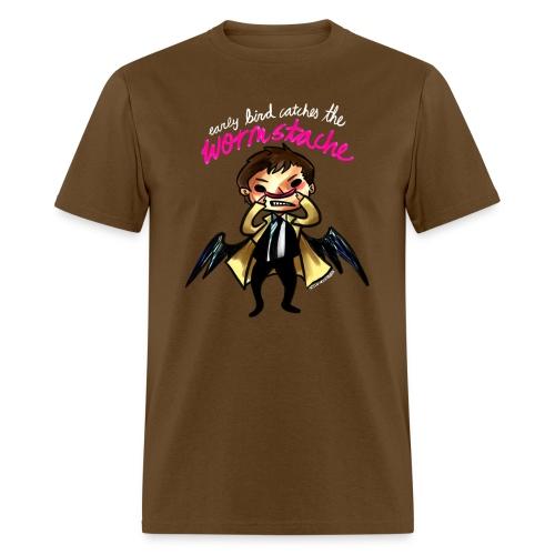 Early Bird Catches the Wormstache (DESIGN BY KARINA) - Men's T-Shirt