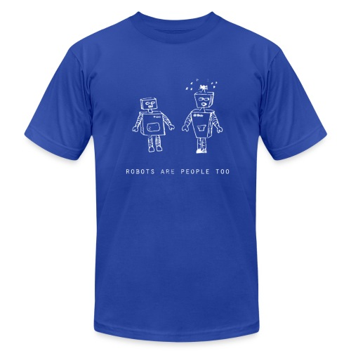 Robots Are People Too | Robot Plunger - Men's  Jersey T-Shirt