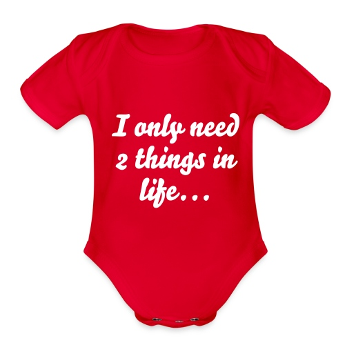 A Bottle and A Booking - Organic Short Sleeve Baby Bodysuit