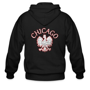 Polish Eagle Chicago - Men's Zip Hoodie