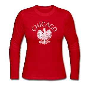 Polish Eagle Chicago - Women's Long Sleeve Jersey T-Shirt