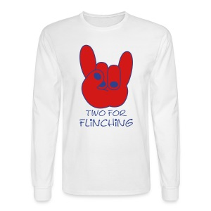 TFF Logo Longsleeve White - Men's Long Sleeve T-Shirt
