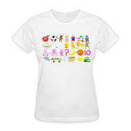 Women's T-Shirts ~ Women's T-Shirt ~ Phonics Song 3