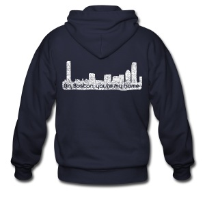 Boston You Are My Home - Men's Zip Hoodie