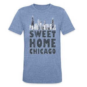 Old Sweet Home Chicago - Unisex Tri-Blend T-Shirt by American Apparel