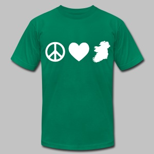 Peace Love Ireland - Men's T-Shirt by American Apparel