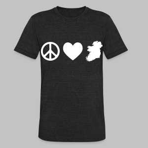 Peace Love Ireland - Unisex Tri-Blend T-Shirt by American Apparel