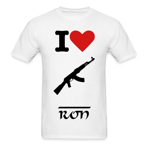 AK-47 RON SHIRT! - Men's T-Shirt