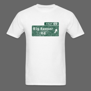Distressed Big Beaver Exit 69 - Men's T-Shirt