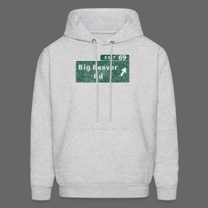 Distressed Big Beaver Exit 69 - Men's Hoodie