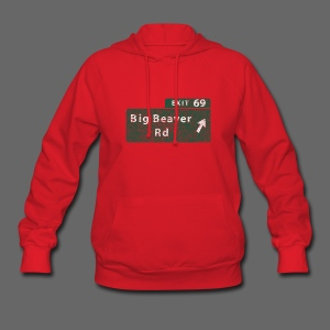 Distressed Big Beaver Exit 69 - Women's Hoodie