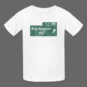 Distressed Big Beaver Exit 69 - Kids' T-Shirt