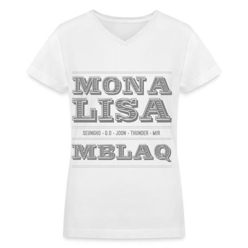 [MBLAQ] Mona Lisa - Women's V-Neck T-Shirt