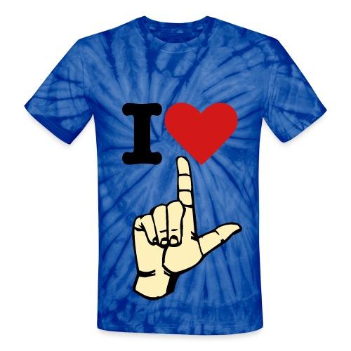 i love losers <3 - Unisex Tie Dye T-Shirt
