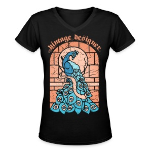 Stained Glass - Women's V-Neck T-Shirt