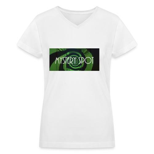 Mystery Spot (Designed by Anne) - Women's V-Neck T-Shirt