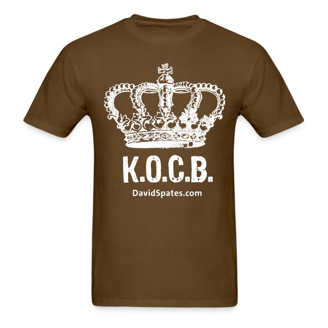 KOCB Crown Men's White Standard Weight T-Shirt