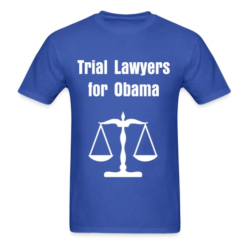 Trial Lawyers for Obama - Men's T-Shirt