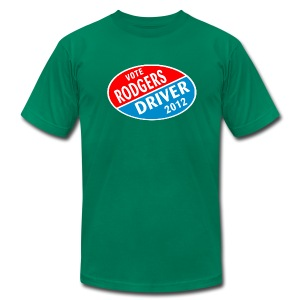 Vote Rodgers/Driver 2012 - Men's T-Shirt by American Apparel