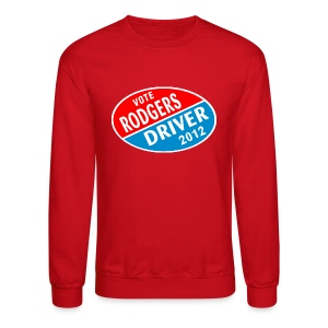 Vote Rodgers/Driver 2012 - Crewneck Sweatshirt