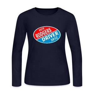 Vote Rodgers/Driver 2012 - Women's Long Sleeve Jersey T-Shirt