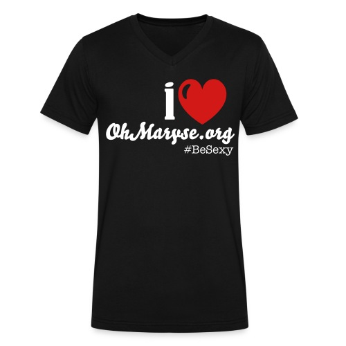 I HEART OhMaryse Shirt - Men's V-Neck T-Shirt by Canvas
